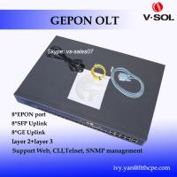 Quality 8 PON OLT FTTH EPON GEPON OLT with 16 uplink ports, including 4*10G uplink, layer 3 OLT for sale
