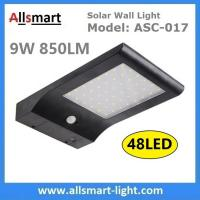 Wholesale 48LED 850LM PIR Solar Sensor Wall Light With 4400mAh Li-ion Battery Black Lampshade For Road Garden Yard Illuminating from china suppliers