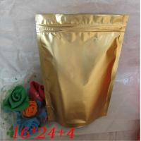 Wholesale Moisture proof Gold Stand Up Foil Pouches Reclosable zipper doypack from china suppliers