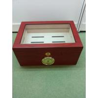 Wholesale Red Painting Window Wooden Cigar Gift Box Handmade Full Color from china suppliers