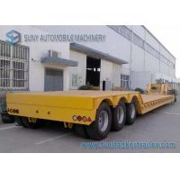 Wholesale 18 m Tri axle Separable Low Flatbed Semi Trailer Load Capacity 50 T 60 T from china suppliers