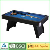 Quality Foosball football game table / 15mm MDF bedplate with blue billiard cloth for sale