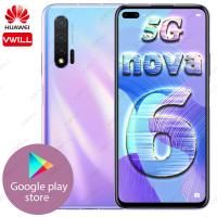 Wholesale iginal HUAWEI Nova 6 5G LTE MobilePhone Kirin 990 Balong 5000 Octa Core 40W Huawei SuperChager Android 10.0 Google Play from china suppliers