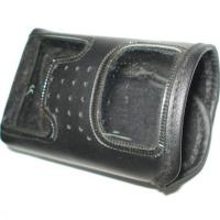Wholesale Black Leather Walkie Talkie Holster Customized For Premiums OED from china suppliers