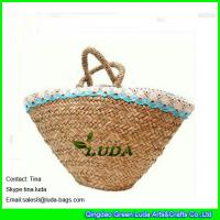 Wholesale fashion seagrass straw bags natural wicker beach bag from china suppliers