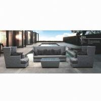 Wholesale Rattan wicker sofa sets, hotel, lobby garden use, aluminum frame, UV resistance, 1 + 1 + 3 from china suppliers