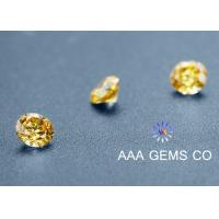 Wholesale Round Yellow Sythetic Colored Moissanite For Moissanite Vintage Engagement Rings from china suppliers