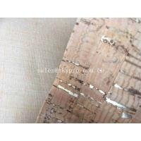 Wholesale Decorative A Grade Rubber Sheet Roll , Upholstery Cork Leather Fabric for Bag Shoe from china suppliers