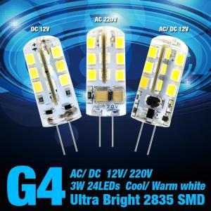 Wholesale G4 3W 24LEDs DC 12V Chandelier Led Bulb Lighting AC 220V Efficient LED Corn Bulb Light from china suppliers