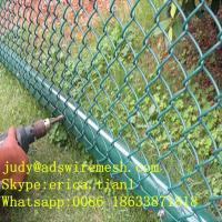 Wholesale (50*50MM 100*100MM)PVC Coated Chain Link Fence from china suppliers