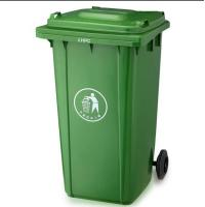Wholesale 120L/240L Garbage bin with 2 wheel in virgin plastic material garbage bin with wheels from china suppliers