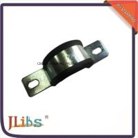 Wholesale U Type Zinc Galvanized Rubber Coated Pipe Clamps , Vertical Hose Clamp With Rubber from china suppliers