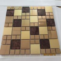 Buy cheap 304 stainless steel mosaic tiles with glass from wholesalers