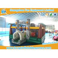 Wholesale Jungle inflatable bouncer and funland for kids ,  inflatable amusement park with bouncer slide from china suppliers