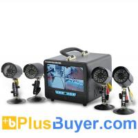 Wholesale 7 Inch LCD DVR System with 4 Cameras and Microphone from china suppliers