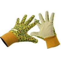 Wholesale Original M yellow T / C cotton cloth childrens pvc dots garden working gloves from china suppliers