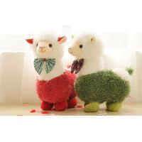 Wholesale White silky soft fur Girl Alpaca Prime Plush custom stuffed toys for Birthday present from china suppliers