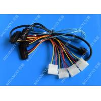 Wholesale Internal Mini SAS SFF-8643 to (4) 29pin SFF-8482 connectors with SATA Power ,1M from china suppliers