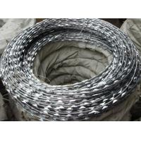 Wholesale Concertina Coil Razor Barbed Wire 450mm Anti-corrosion Pvc coated from china suppliers
