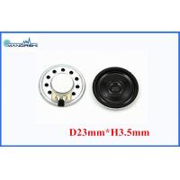 Wholesale 87DB Miniature Mylar Speaker 23mm Thin / 0.5w Micro Dynamic Speaker from china suppliers