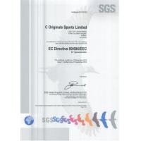 C ORIGINALS SPORTS LTD. Certifications