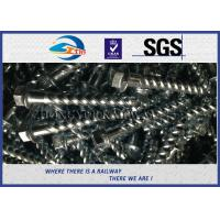 Wholesale Steel 35# Spiral Spike nails HDG coating  For Rail Fastening System from china suppliers