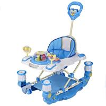 Adjust Modern Baby Girl Walker 6 Wheel Plastic Baby Walker with Handle