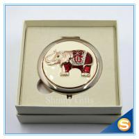 Buy cheap Shinny Gifts Elephant Design Handmade Round Compact Mirror Portable Small Mirror from wholesalers