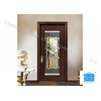 Quality Bevel Custom Glass Window Panels , Theft Proof Brass Decorative Art Glass for sale