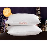 Wholesale Soft  Hotel Comfort Pillows 233T Down Proof Fabric Rectangle 1200g / pcs from china suppliers