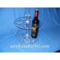 Wholesale Perspex Wine Holder / Promotion Acrylic Wine Rack / Lucite Wine Bottle Display Stand from china suppliers