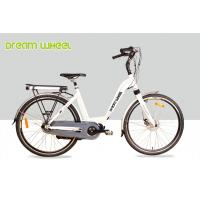 Wholesale White 36V 250W Electric Lady City Bike 700C Aluminum Frame Middle Motor from china suppliers
