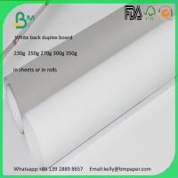 Wholesale 1.5mm 2mm 3mm duplex board White Front Grey Back Board from china suppliers
