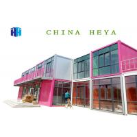 Wholesale Fireproof Mobile Construction Office , Two Story Single Wide Mobile Homes from china suppliers