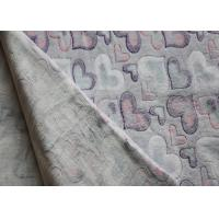 Wholesale Heart Pattern Printed Flannel Fleece Fabric Shrink - Resistant from china suppliers