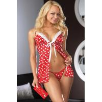 Wholesale Her Passionate Hearts Sexy Babydoll Lingerie Costumes Red and White from china suppliers