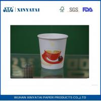 Wholesale Disposable PE Coated Double Walled Paper Coffee Cups , Insulated Paper Espresso Cups from china suppliers
