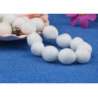 Wholesale Vintage Glass Bead Artificial Pearl Necklace Jewelry Baroque Style White Color from china suppliers