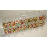 Wholesale Custom Acrylic Candy Display Cases Boxes With 12 Drawers For Supermarket from china suppliers