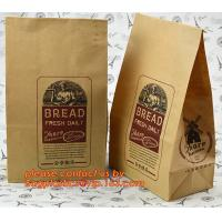 Wholesale Customize 3 Side Visible Clear Window Offset Printing Bakery Bags, Customize V Bottom with Clear Window Food Grade Toast from china suppliers