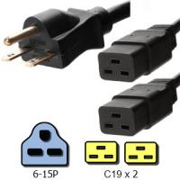 Wholesale Customized NEMA 6 15P 15A Power Splitter Cable 2 x C19 Connector from china suppliers