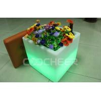 Wholesale Patio Living Concepts led plant pots , Garden Square illuminated planters from china suppliers