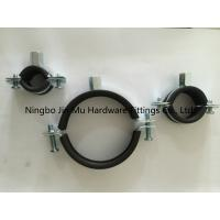 Quality Bandwidth 25 mm Galvanized Steel Pipe Clamps With Rubber And M8 / M10 Nut Weld for sale