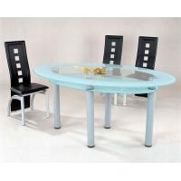 Wholesale 10MM white oval tempered glass as dining  table top from china suppliers
