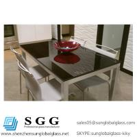 Wholesale 1024x612mm Grade A High quality black back painted glass table top from china suppliers
