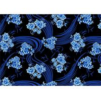 Wholesale Soft Blue Micro Velvet Fabric For Dress , Printed Velvet Fabric from china suppliers