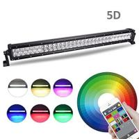 Wholesale Multi-color LED Light Bar 22Inch 120W Flood Spot Combo Light Bluetooth App or Wiring Harness Control for Off Road Jeep from china suppliers