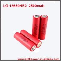 Wholesale Brillipower Wholesale 18650 3.7v Battery 2500mah 35A 18650 3.7v Battery from china suppliers