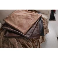 Buy cheap Comfortable Knitting Leather Imitated / Faux Leather Cushions Oil Repellent from wholesalers