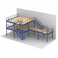 Wholesale 1 - 2 Levels Heavy Duty Raised Storage Mezzanine Floor For Industrial Storage from china suppliers